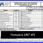 Formulario 1057 API
