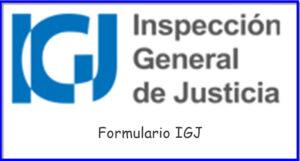 Formulario IGJ Como Completarlo