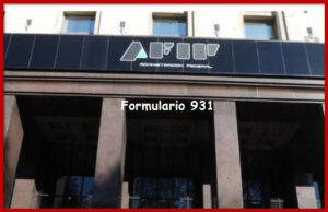 Formulario 931 AFIP