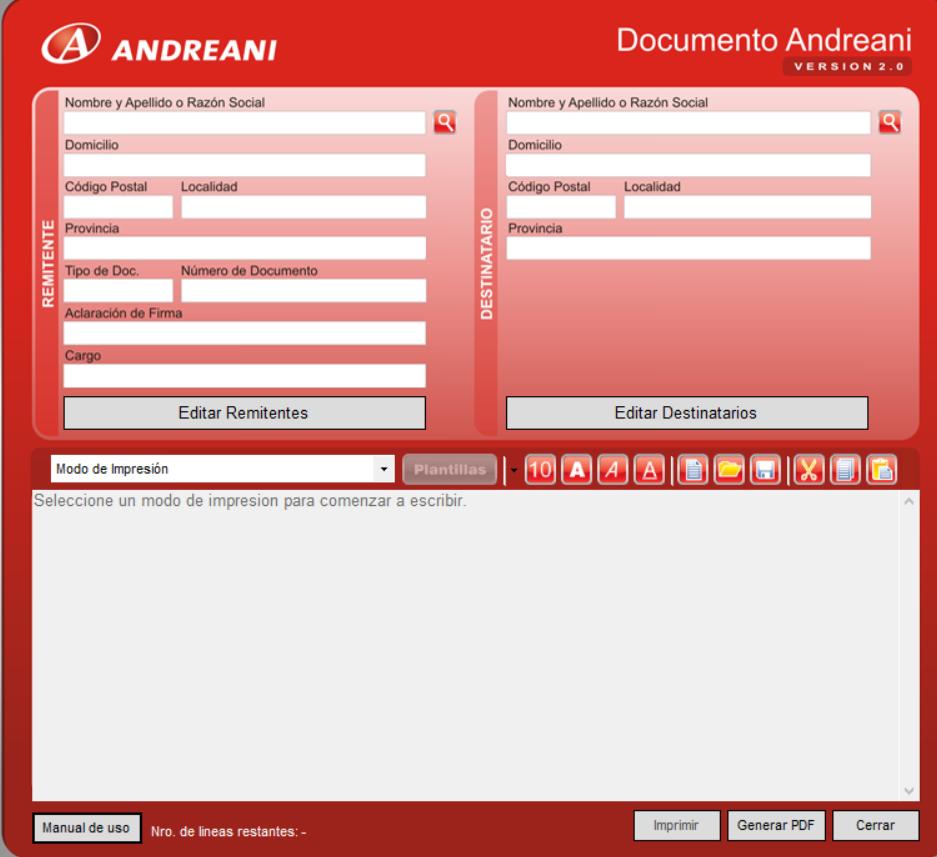 Documento Andreani
