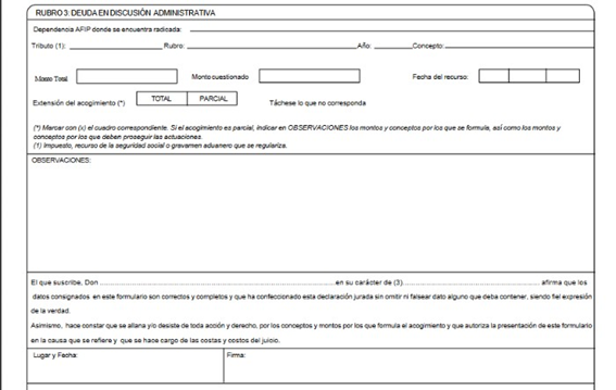 Dependencia AGIP formulario 408